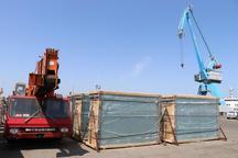 صادرات پنج هزارو 347 تن شیشه  از گناوه به قطر
