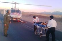 بالگرد اورژانس قم 43 مصدوم را به بیمارستان انتقال داد