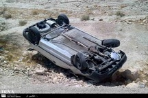 واژگونی خودرو در کاشان پنج نفر مصدوم داشت