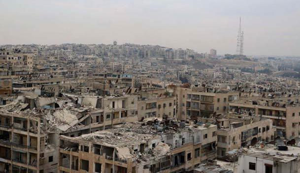 عکس روز/ شهری که تبدیل به گورستان شده است