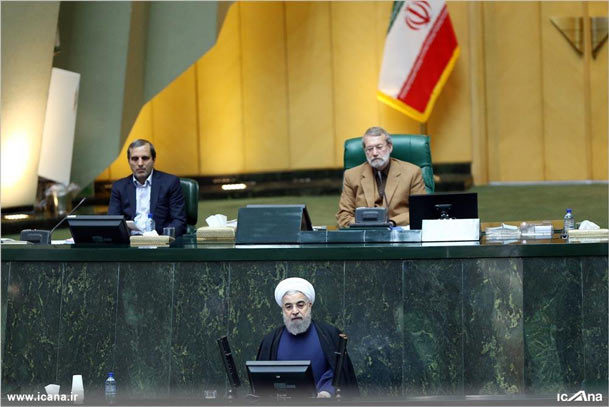 گزارش تصویری/ سخنرانی رئیس جمهور در صحن علنی مجلس شورای اسلامی