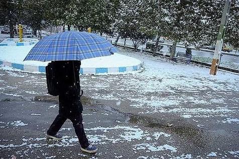بارش برف و باران در ۱۰ استان ایران