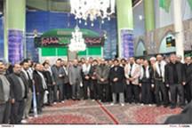تجدید میثاق کارکنان بسیجی بهشت زهرا با امام راحل