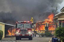 تصاویر/ گسترش آتش سوزی مهیب در کالیفرنیای آمریکا