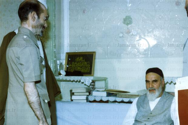 تصویر منتشر نشده از دیدار مرحوم محمدنبی حبیبی با امام(س)