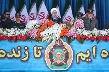 روحانی: از ارتش جمهوری اسلامی ایران به نیکی و عظمت یاد می شود