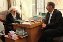 معاون اول رئیس جمهوری با آیت الله ناصری دیدار کرد