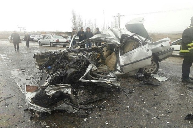 تصادف در جاده چرام به دهدشت جان مادر باردار را گرفت