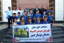 بازیکنان و کادر فنی تیم المپیاد فوتبال خوزستان تجلیل شدند