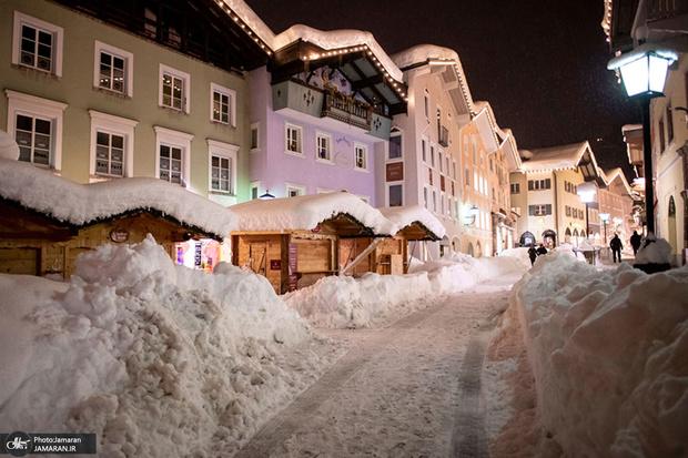 برف آمریکا . اروپا