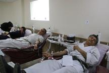 اهدای خون کاراته کاران گیلانی در رشت