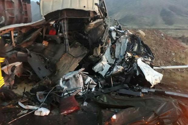 تصادف زنجیره ای در فیروزکوه 2 کشته و 6 مجرو ح برجای گذاشت