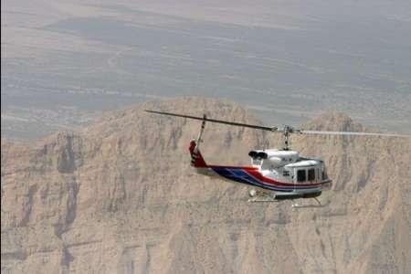 پرواز بالگرد شرکت نفت در منطقه چال کندی