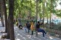 خانه های بدن سازی در پارک های قم ایجاد می شود
