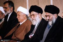 تصاویری کمتر دیده شده از آیتالله هاشمی شاهرودی در کنار رهبر معظم انقلاب