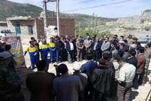 عملیات گازرسانی به روستای کاستان شهرستان مانه وسملقان آغاز شد