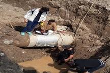 جلوگیری از هدررفت آب با رفع شکستگی خط انتقال آب شرق گیلان