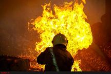 آتشسوزی بر اثر نشت گاز پیکنیک  حریق گسترده در کارگاه کمک فنرسازی