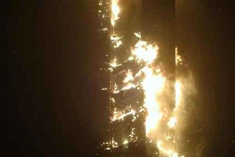 آتش سوزی برج «مشعل» در دوبی+ فیلم