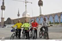 تجدید میثاق تیم دوچرخه سواری ساری با آرمان های امام راحل