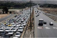ترافیک آزادراه تبریز به سمت تهران سنگین و نیمه سنگین است