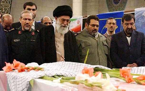 پیکر پاسداران شهید جهادخودکفائی سپاه با حضور رهبر معظم  انقلاب تشییع شد