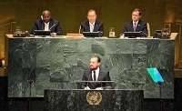 سخنرانی لئوناردو دی کاپریو در سازمان ملل +عکس