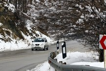 ورود خودروهای بدون زنجیر چرخ به جاده کرج - چالوس ممنوع است