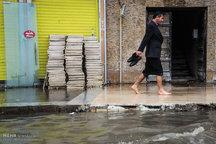 آبگرفتگی معابر شهر اهواز بعد از بارش شدید باران + تصاویر
