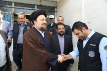 بازدید سید حسن خمینی از مقر ستاد فرماندهی و کنترل ترافیکی محدوده بهشت زهرا
