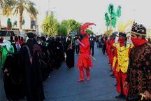 مراسم نمادین کاروان اسرای کربلا در جیرفت برگزار شد