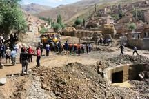 تخریب کامل 7 منزل روستایی دراثر سیل دیروز سلماس