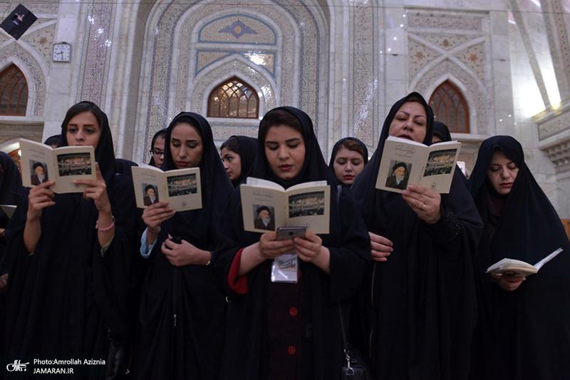 تجدید میثاق دانشجویان هشتمین دوره اردوی ملی طریق جاوید با آرمان های امام خمینی(س)