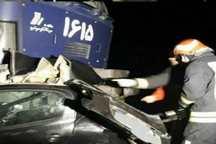 برخورد قطار با خودرو در جاده تبریز-آذرشهر 4 کشته به جا گذاشت