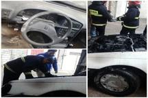 آتشسوزی عجیب یک دستگاه خودرو در کرمان