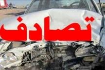 پنج مصدوم در تصادف در جاده مهدیآباد - آجربند قزوین
