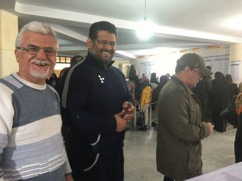 حضور محمد بنا در انتخابات + عکس