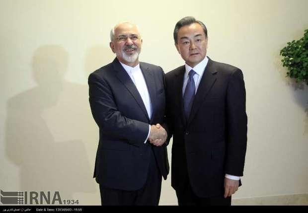 دیدار وزرای خارجه ایران و چین+عکس