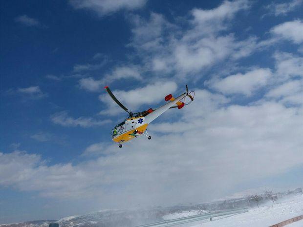 انجام دو سورت پرواز نجات بخش بالگرد اورژانس از میانه به تبریز