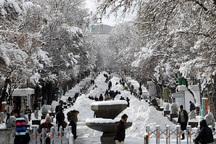 ریزش برف در همدان کاهش می یابد