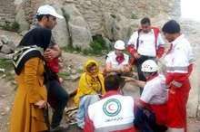 نجات بانوی کوهنورد مصدوم در ارتفاعات کلیبر
