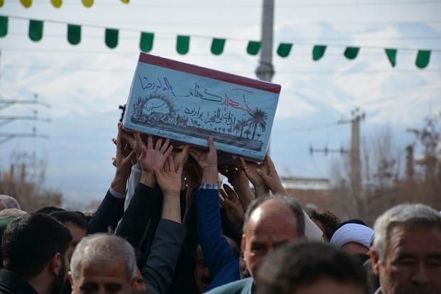 پیکر مطهر شهید گمنام در شهرستان شوط تشییع شد