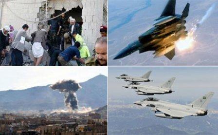 عربستان با ادامه نقض آتش بس چند استان یمن را بمباران کرد