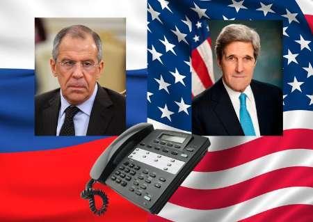 گفت وگوی تلفنی لاوروف و کری درباره نقشه راه آتش بس در سوریه