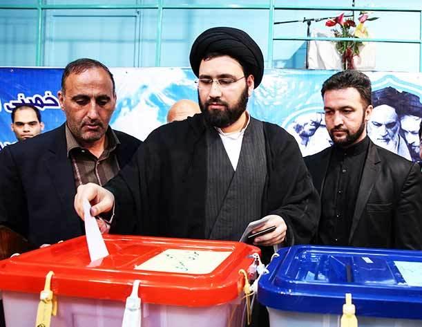فیلم / رای دادن حجت الاسلام سید علی خمینی