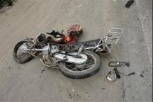 تصادف موتور با تریلی در کاشان یک کشته داشت