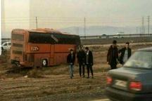 تکرار حادثه اتوبوس دانشجویان این بار در بوئین زهرا   مصدومیت دانشجوی دختر به دلیل سرعت بالای اتوبوس