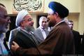 استقبال  یادگار امام از دکتر حسن روحانی در حرم مطهر امام خمینی (س) به مناسبت روز جهانی کارگر