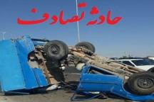 فوت راننده بر اثر واژگونی خودرو دربناب