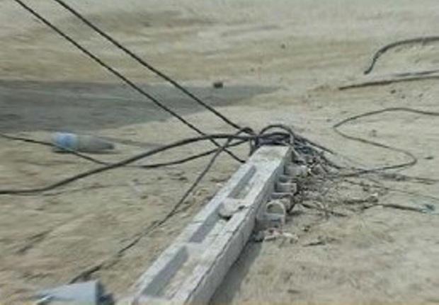 برق بخش هایی از منطقه پادادشهر اهواز قطع شد